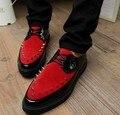 Английский острым компактный кожа обувь мужчины в обувь высокая платформа обувь леопардовый обувь