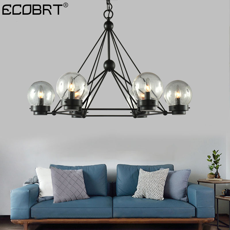 Ceiling Lamp Shades For Living Room: Nordic Style Black Ceiling Lamps In Living Room With Glass