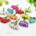 12 pcs Mini Foam Calla Handmake Artificial Flower Bouquet Wedding Decoration DIY Wreath Gift Box Scrapbooking craft Fake flower
