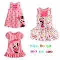 Verano 2016 Vestido de Minnie de Las Muchachas Ocasional Fantasia infantil Vestidos Infantis Niño Lindo Ropa de Niña Bebé Vestido de Las Muchachas
