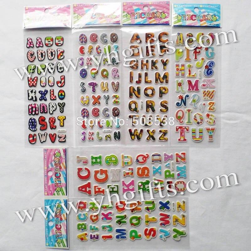 120 Sheets (3880 Stks Stickers)/lot. Plastic Verwijderbare 0-9 Nummers Stickers, Leren Uw Eigen. Kids Speelgoed, Klassieke Speelgoed. Kleuterschool Craft En Om Een Lang Leven Te Hebben.