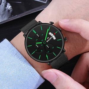 Image 5 - Swish Mannen Horloges 2020 Luxe Merk Mode Heren Horloges Rvs Sport Chronograaf Militaire Horloge Quartz Reloj