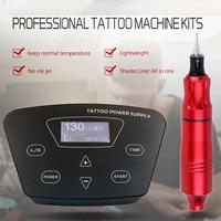 Biomaser K2 CTG 003 RED/SILtattoo machine kit intelligent digital tattoo permanent makeup machine kit device Swiss motor Sets