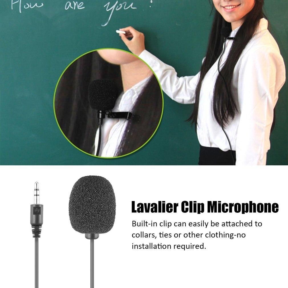 Портативный внешний 3,5 мм петличный микрофон Hands-free мини проводной клип-на лацкане петличный микрофон для ПК ноутбука