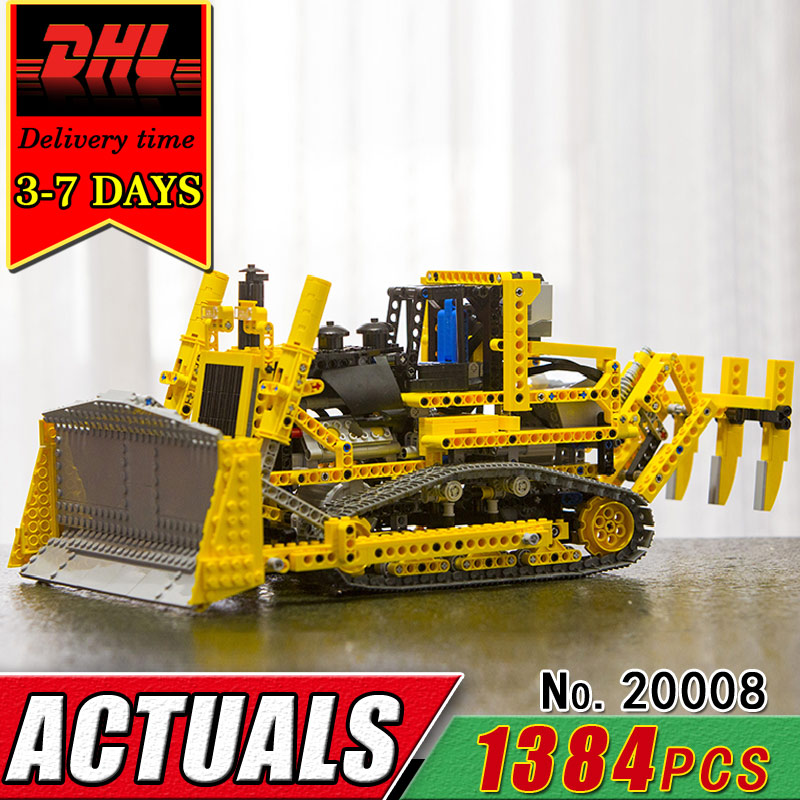 DHL LEPIN 20008 Technic Series Remote Control Bulldozer Electric Building Blocks RC Car Compatible 42030 Brick Children Toy Gift military hummer rc tank building blocks remote control toys for boys weapon army rc car kids toy gift bricks compatible lepin