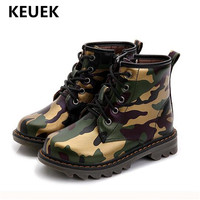 4f74699f ... bebé niño 02. New Children Shoes Autumn Winter Ankle Boots Boys  Camouflage PU Leather Boots Kids Student Warm Short