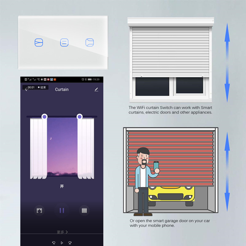 Image 2 - Lonsonho Wifi Smart Blind Curtain Switch Garage Door Opener For Electric scroll Motor Tuya Smart Life App Alexa Google Home-in Home Automation Modules from Consumer Electronics