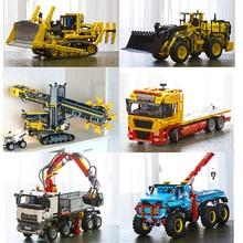 Technic 20004 20005 20006 20007 20008 20009 20010 20013 20015 20021 20056 20076 конструкторных блоков, Детские кубики грузовых автомобилей игрушки подарки