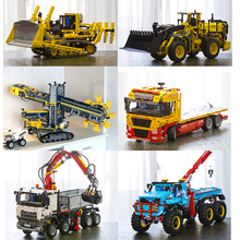 Лепин Technic 20004 20005 20006 20008 20009 20010 20013 20015 20019 20021 20056 Building Block кирпичи грузовик игрушки рождественские подарки
