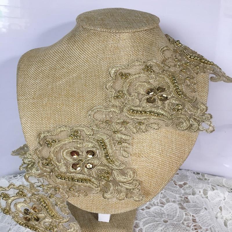 Aliexpress.com : Buy 2yards 12cm Beaded Lace Trim Gold