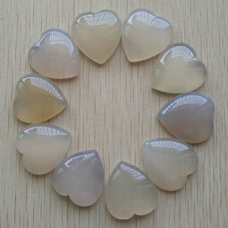 2017 new good quality natural white onyx heart shape cab cabochons beads for jewelry making 25mm wholesale 10pcs/lot free