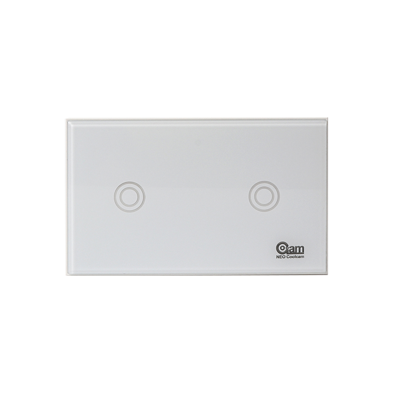 NEO COOLCAM US 2 Gang Smart Switch Wall Panel Light Switch Z-wave Plus Smart Home Automation Modules Wireless Remote Control