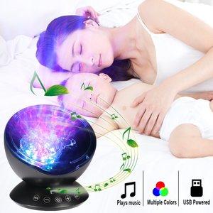 Image 4 - Ocean Wave Starry Sky Aurora LED Night Light Projector Luminaria Novelty Lamp USB Lamp Nightlight Illusion For Baby Children