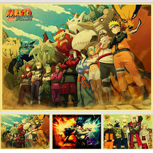japanese cartoon anime Naruto Vintage Paper Poster Wall Painting Home Decoration 42X30 CM 30X21 CM(China)