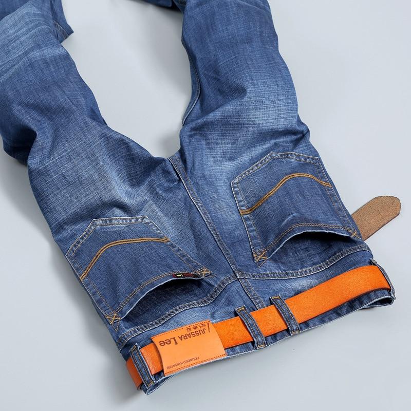 New 2016 famous brand men jeans  Slim straight jeans pants male youth men's pants trousers  light blue jeans for men Y307