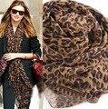 Бесплатная Доставка Женщины востребованных во всем мире Leopard Шарф весна шаль