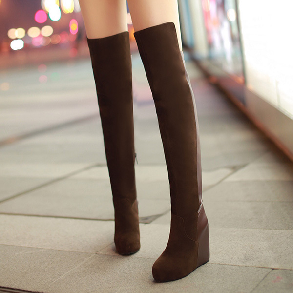 ФОТО Spring 2014 new winter jackboot female high boots stretch velvet boots new hot sell slope high-heeled boots XY196