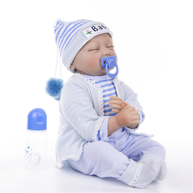 "Image 4 - KEIUMI 22"" 55cm Bebes Silicone Reborn  Baby Dolls Toys Cloth Body Boy Toddler Babies Newborn Dolls For Kids Best Playmate-in Dolls from Toys & Hobbies"