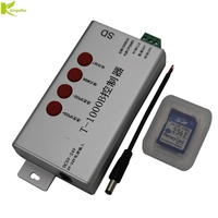 T 1000B led pixel controller,support WS2801,LPD6803,WS2811,WS2812 TM1804,TM1809,LPD8806.Etc;max 2048pixels controlled T1000B