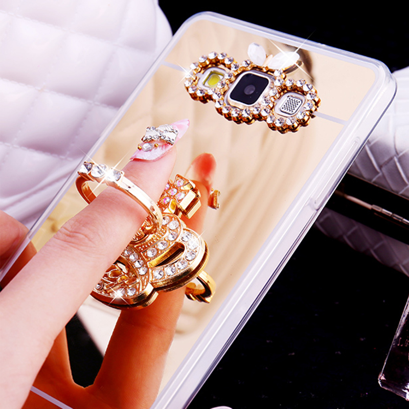 Luxury Mirror TPU Slim <font><b>Case</b></font> <font><b>For</b></font> <font><b>Samsung</b></font> <font><b>Galaxy</b></font> Note 8 <font><b>5</b></font> J2 Prime J5 <font><b>2017</b></font> J7 2016 S9 S8 Plus S6 S7 Edge Cover Ring Holder Stand image