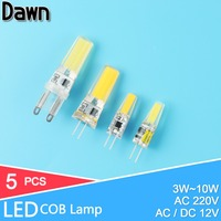 10Pcs Mini G4 LED G9 LED Lamp AC220V / DC12V SMD2835 4W 5W 6W 7W Dimmable Lampada LED Bulb Replace Halogen Crystal Spotlight Sal