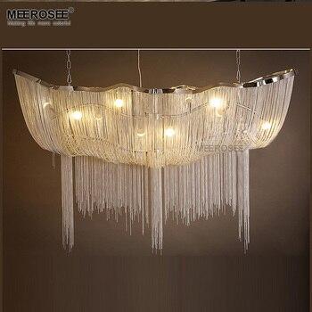 Cadena de aluminio colgante accesorio de luz Vintage imperio lámpara de suspensión cadena francesa colgante Lustre para sala de estar Hotel Restauran