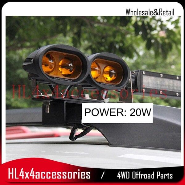 Автомобиль пятно света 4D 20 Вт для вождения грузовик внедорожник бездорожье автомобиль пятно света 12 В луч светодиодный прожектор 20 Вт объек…