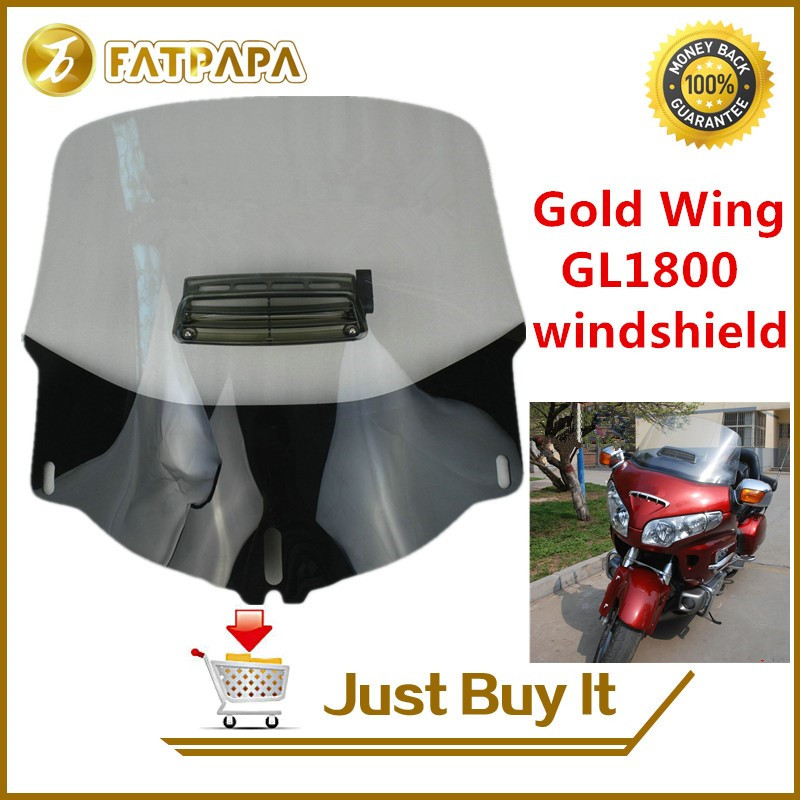 Free Shipping EMS Motorcycle Gold Wing 1800 ABS Plastic Front Windshield Fit For Honda GL1800 High QualityFree Shipping EMS Motorcycle Gold Wing 1800 ABS Plastic Front Windshield Fit For Honda GL1800 High Quality