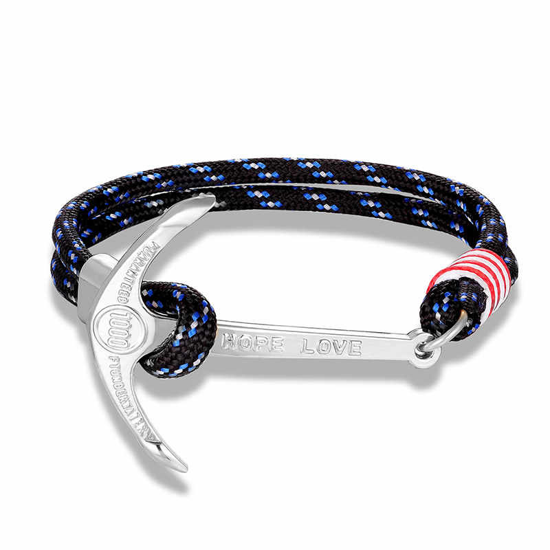 JAAFAR 2019 New retro high quality anchor bracelet charm leather bracelet men's and women's jewelry wholesale AS729