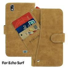 Vintage Leather Wallet Echo Surf 5 Case Flip Luxury Card Slots Cover Magnet Stand Phone Protective Bags vintage leather wallet echo fusion 6 case flip luxury card slots cover magnet stand phone protective bags