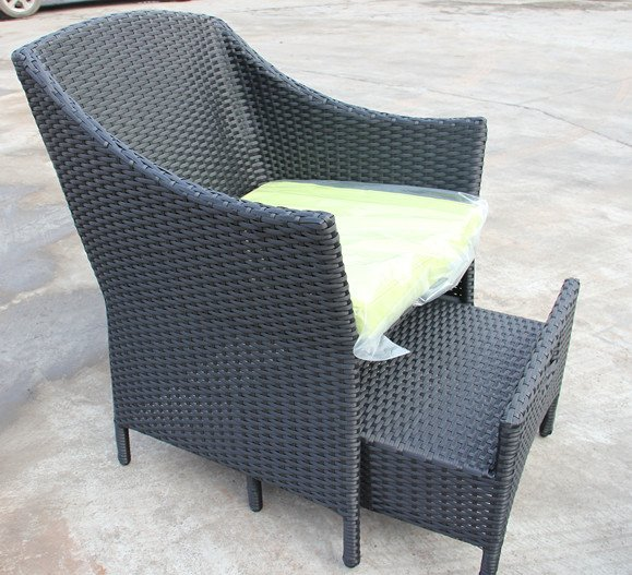 New Design Synthetic Rattan Modern All Weather Outdoor Rattan Conversation  Set With Storage