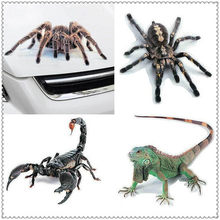3D Car Sticker Animals Spider Gecko Scorpions Vinyl Decal for Honda Pilot Insight HR-V CR-V Odyssey Jazz Fit Sports Ridgeline(China)