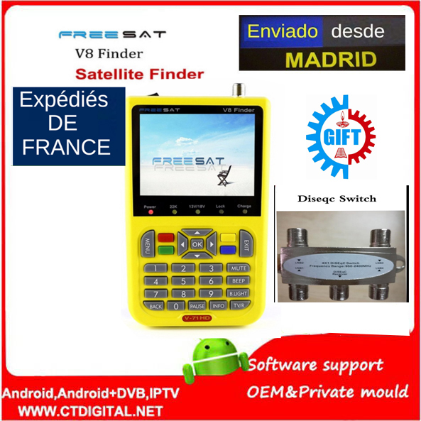 free sat v8 finder hd satfinder DVB-S2 Satellite Finder MPEG-4 Free sat satellite Finder satlink ws-6906 ws6906 satlink ws 6979se satellite finder meter 4 3 inch display screen dvb s s2 dvb t2 mpeg4 hd combo ws6979 with big black bag