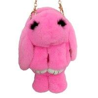 Rabbit Fur Leather Chain Bag Female Models New Winter Grass Bag Diagonal Shoulder Bag Backpack Rabbit
