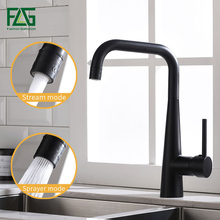 FLG Kitchen Faucet Black Brass Sinks Faucet 360 Swivel 2 Function Water Outlet Mixer Cold Hot Mixer Water Tap 1012-33B flg kitchen sink faucets black brass kitchen faucet 360 swivel 2 function water outlet mixer cold hot mixer water tap 1013 33b