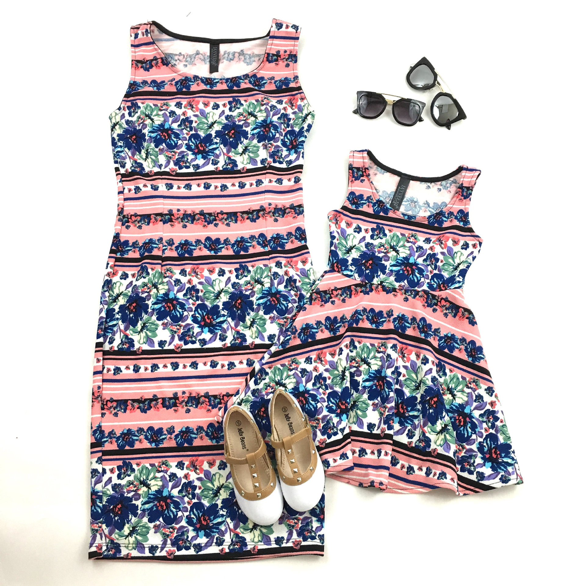 2018 Summer Family Clothing Mother Daughter Dresses Mom and Daughter Dress for Kids and Women Family Matching Outfits Dress 2018 mommy and me family matching mother daughter fish print dresses clothes mom and daughter dress kids parent child outfits