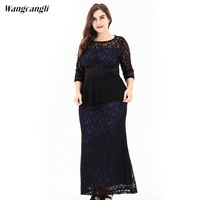 Winter Long Dress Women Vintage Europe And America Large Size Women S Wear Sexy Elegant Evening