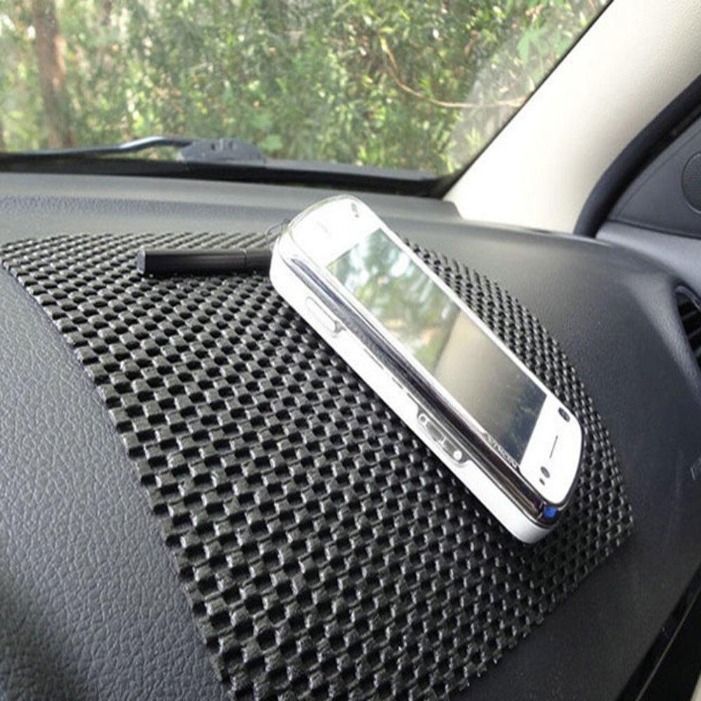 Tapis T/él/éphone Anti-D/érapant V/éhicule Voiture Silicone Anti-Glisse Mat Tapis Antid/érapant Gel Voiture Silicone Voiture Dash Mat Anti-Slip pour Lunettes Soleil GPS avec Cl/é T/él/éphone Portable Noir