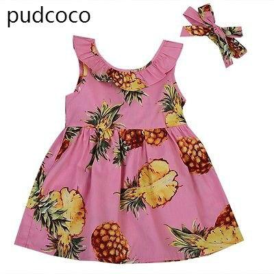 Babykleidung Mädchen Humor Neugeborenen Baby Mädchen Ananas Stickerei Prinzessin Casual Strap Kleid Party Kleidung Täglichen Sommer Prinzessin Kleider