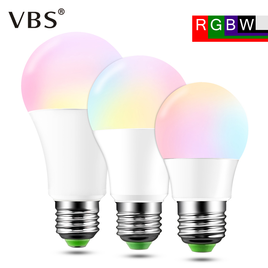 RGB LED Bulb 5W 10W 15W E27 Bombillas Led High Qulity 16 Colors Change Dimmable RGBW Led Lamp Spot Light 85-265V+Remote Control