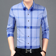 Brand 2017 Men'S Fashion Male Shirts Lapel Plaid Chemise Big Size Homme Men Shirt Leisure Camisa Masculina