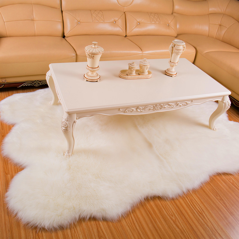 Large Sheepskin Rug White Fur Carpet For Living Room