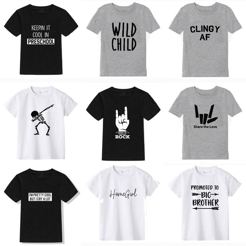 2019 New Summer Boys T Shirt Fashion Print Kids T Shirt For Boy Cotton Short Sleeve Baby Girls T Shirt Children's Clothes Brand