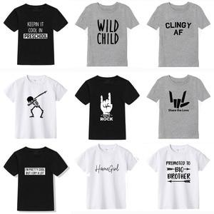 2019 New Summer Boys T Shirt Fashion Print Kids T Shirt For Boy Cotton Short Sleeve Baby Girls T Shirt Children's Clothes Brand(China)
