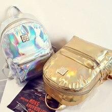 7 farben laser mädchen schulter schultaschen für teenager glänzende pu-leder handtaschen weibliche täglichen daypack (S25-01)