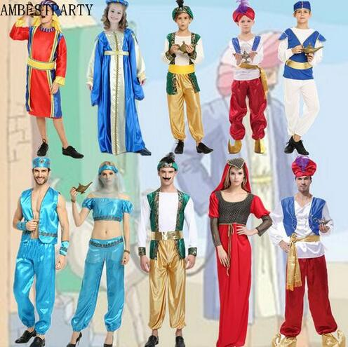 c190c838412 US $16.91 15% OFF|Hot Adults Kids Halloween party dress costume classic  arab costume arab party arabian robes cosplay Lovers clothing  AMBESTPARTY-in ...