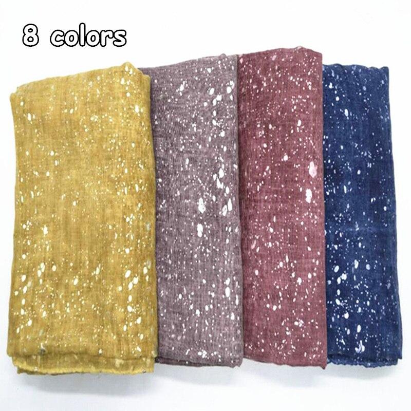 8 color winter women hijab scarf snow finish print scarves shawls fashion Muslim head scarfs foulard soft pashmina echarpe wraps