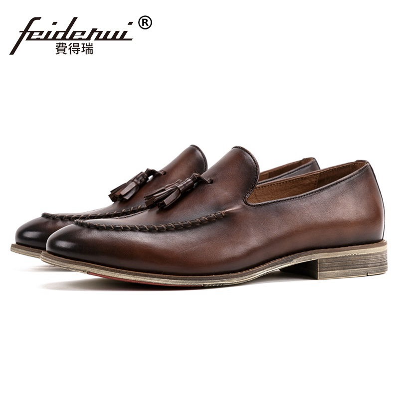 New Arrival Round Toe Slip on Man Comfortable Shoes Genuine Leather Moccasin Casual Loafers Handmade Men's Boat Footwear SS212 new fashion spring summer round toe slip on tassel loafers men moccasin car shoes casual boat shoes
