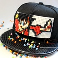 New Fashion Design DIY Detachable Trucker Snapback Hats For Men Summer Mosaics Brick Hat for Women Black Caps