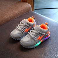 High Quality LED Shinning Patch Children Shoes Glowing Flash Sports Running Boys Girls Sneakers Colorful Lighted